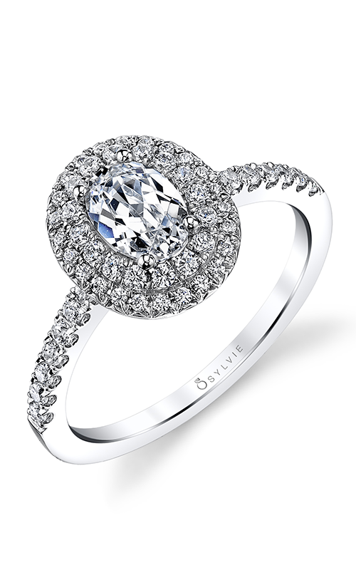 Sylvie Halo Engagement ring S1086-048A4W10O product image