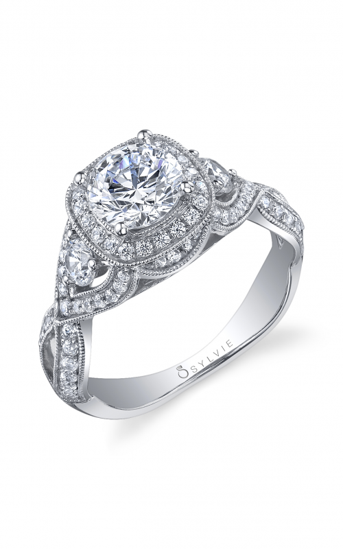 Sylvie Halo Engagement ring S1015-082A8W10R product image