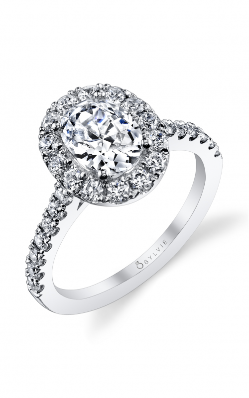 Sylvie Halo Engagement ring S1199-073A8W15O product image