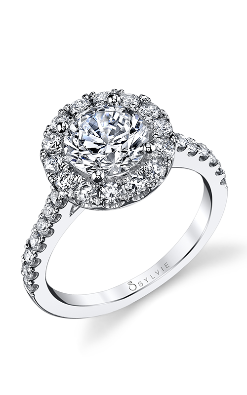 Sylvie Halo Engagement ring S1199-072A8W10R product image