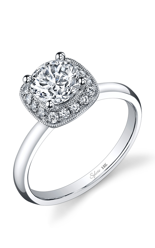 Sylvie Halo Engagement ring SY859-020A8W10R product image