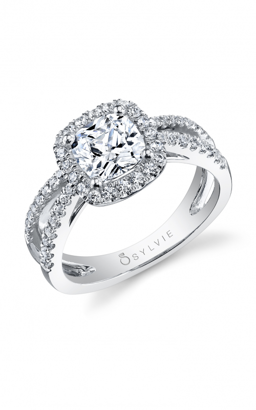 Sylvie Halo Engagement ring S1130-046A4W10C product image