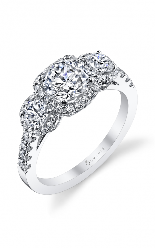 Sylvie Three Stone Engagement ring S1155S-87A4W10R product image