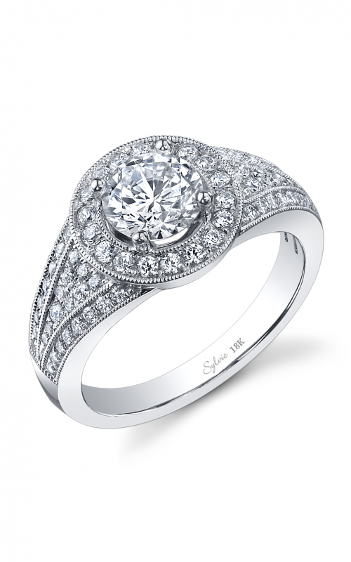 Sylvie Halo Engagement ring SY937-054A8W10R product image