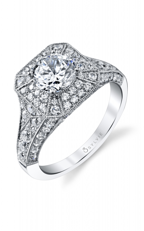 Sylvie Halo Engagement ring S1231-131A4W10R product image