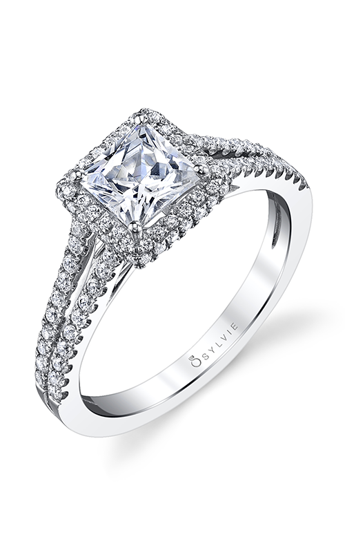 Sylvie Halo Engagement ring SY175-0045/A4W product image