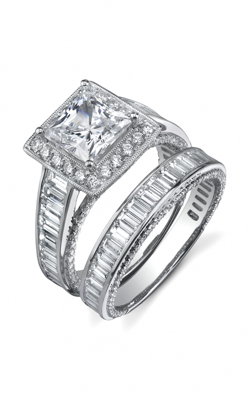 Sylvie Halo Engagement ring SY202-0170/A8W product image