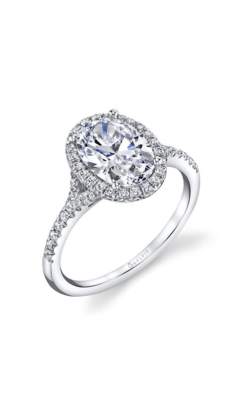Sylvie Halo Engagement Ring S1814-028SCZ20O product image