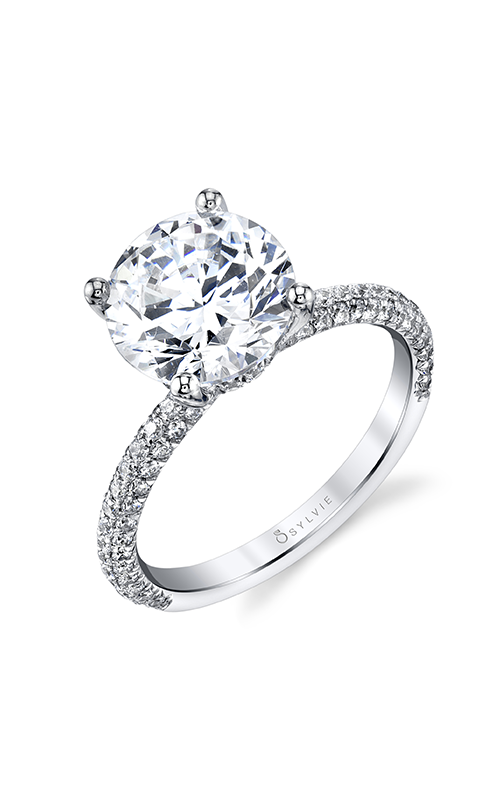 Sylvie Sidestone Engagement ring S1633-069A8W30R product image