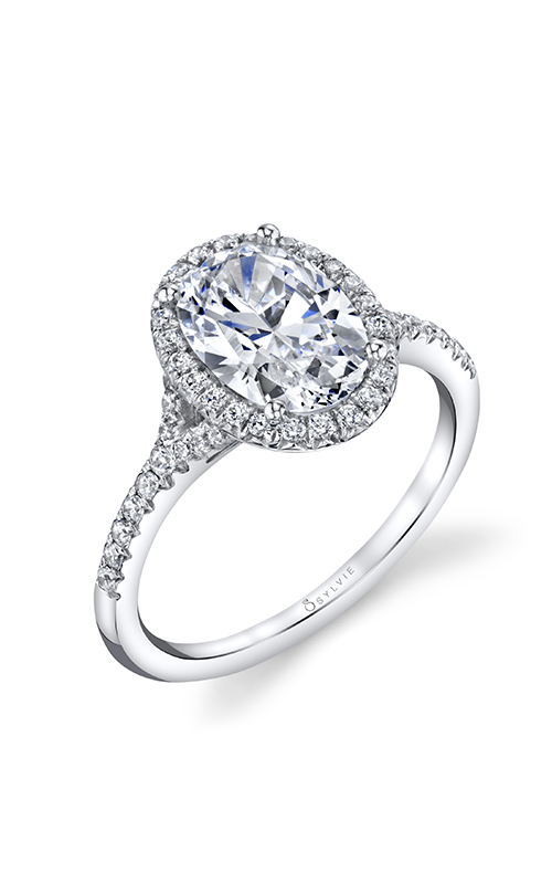Sylvie Halo Engagement Ring S1814-028A8W15O product image