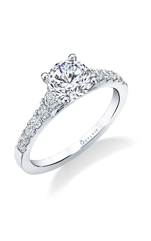 Sylvie Sidestone Engagement Ring S1574-038A4W10R product image
