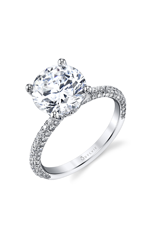 Sylvie Sidestone Engagement Ring S1633-069A4W30R product image