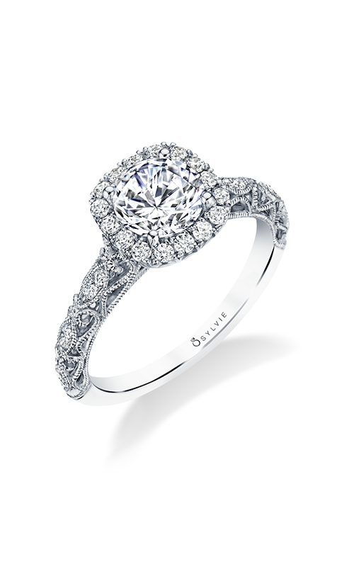 Sylvie Halo Engagement Ring S1730-027A4W10RC product image