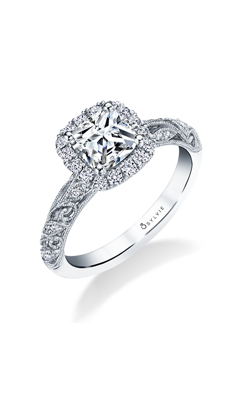 Sylvie Halo Engagement Ring S1747-037A4W12CC product image