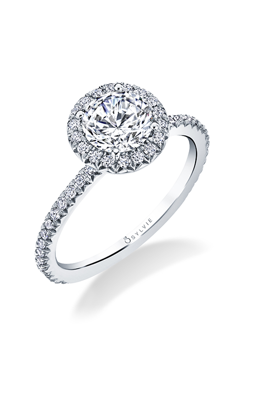 Sylvie Halo Engagement Ring S1793-032A4W10RR product image