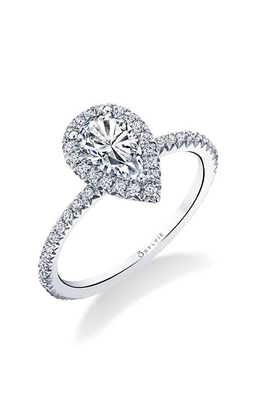 Sylvie Halo Engagement ring S1793-033A4W10T product image