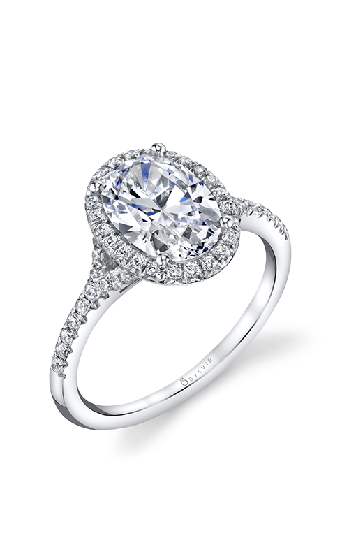 Sylvie Halo Engagement Ring S1814-028A4W12O product image