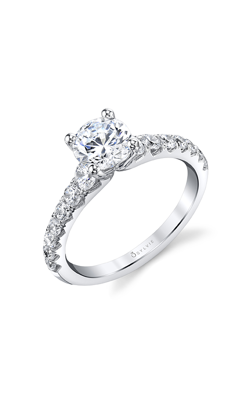 Sylvie Engagement ring Sidestone S1860-064A4W10R product image