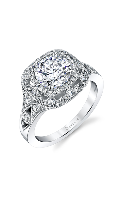Sylvie Halo Engagement ring S1911-38A4W10RCH product image