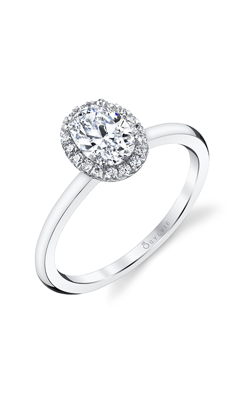 Sylvie Halo Engagement ring S1993-012A4W10O product image