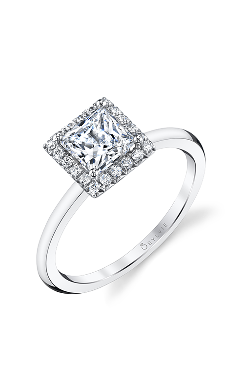 Sylvie Halo Engagement ring S1993-013A4W10P product image