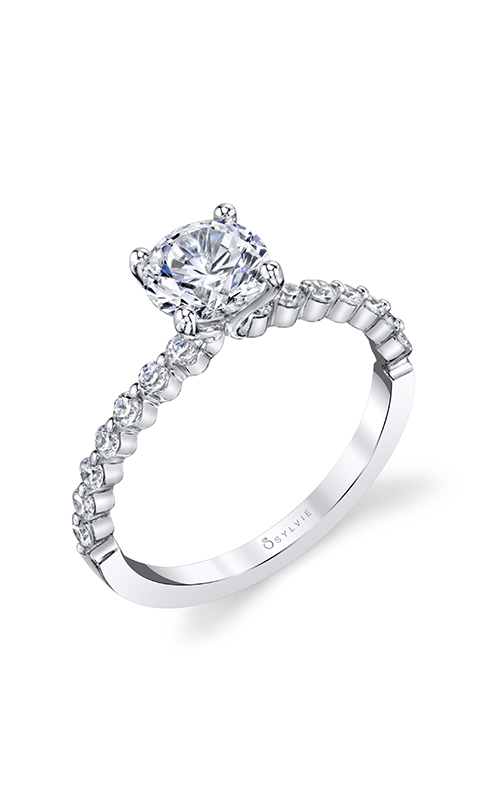 Sylvie Sidestone Engagement Ring S1P14-029A4W10R product image