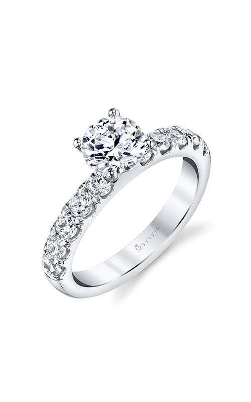 Sylvie Sidestone Engagement Ring SBUP10-0025A4W10R product image