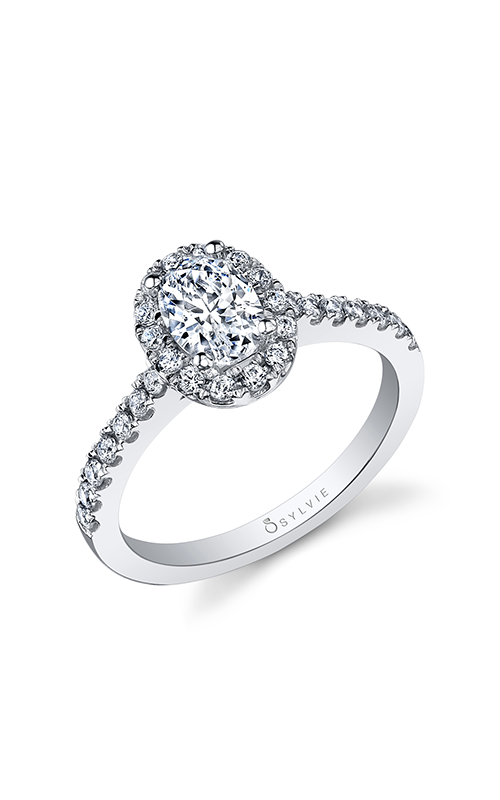 Sylvie Halo Engagement Ring SY999-039A4W75O product image