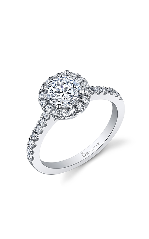 Sylvie Halo Engagement ring SY999-041A4W10R product image