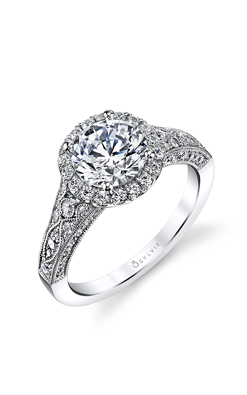 Sylvie Halo Engagement ring S1409-073A4W15O product image