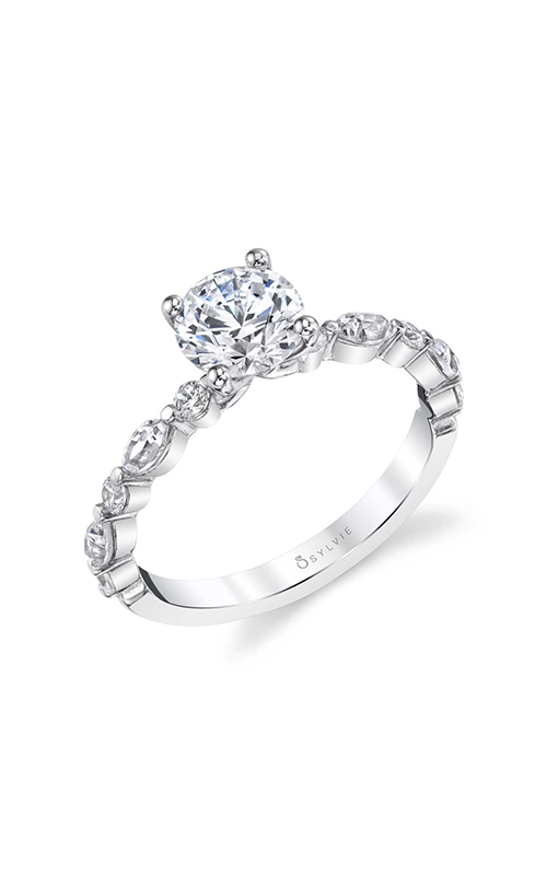 Sylvie Sidestone Engagement Ring S2000-32A4W10R product image