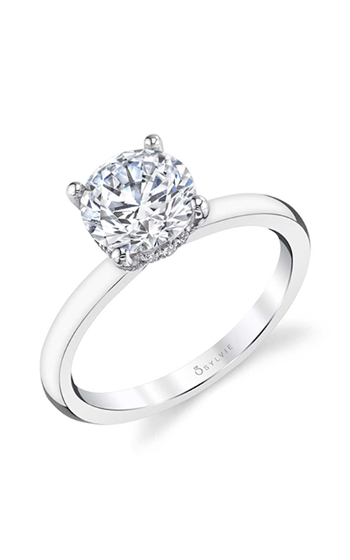 Sylvie Sidestone Engagement ring S2393-012A8W15R product image