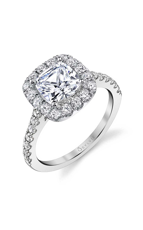 Sylvie Halo Engagement ring S1199-072A4W10RC product image