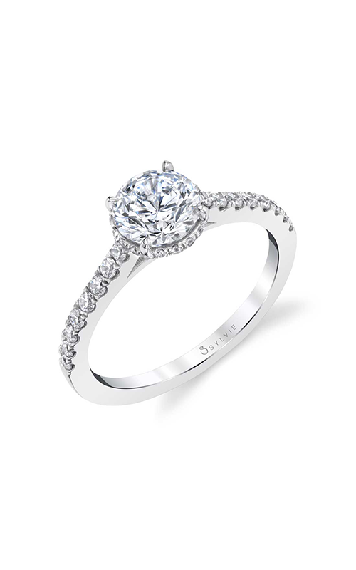 Sylvie Sidestone Engagement Ring S1953-029A4W10R product image