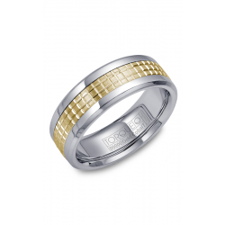 Torque Cobalt And Gold Wedding Band CW009MY75 product image