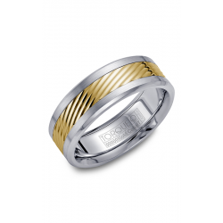 Torque Cobalt And Gold Wedding Band CW015MY75 product image