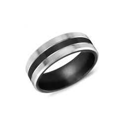 Torque Black Titanium Wedding Band TI-0064 product image
