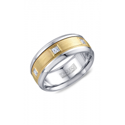 Torque Cobalt And Gold Wedding Band CW090MY9 product image