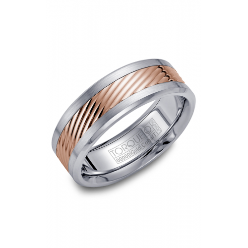 Torque Cobalt and Gold Wedding band CW015MR75 product image