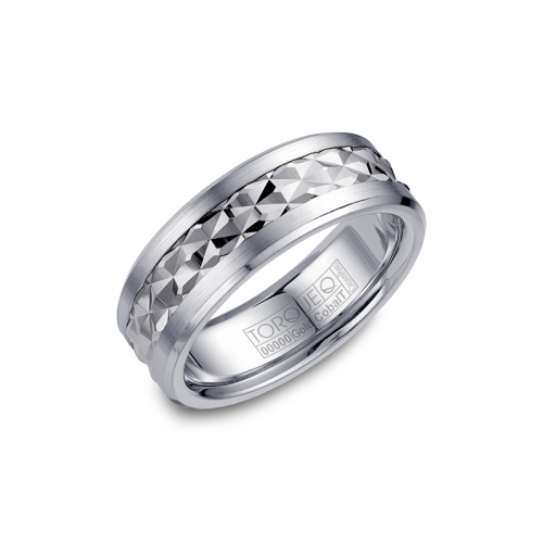 Torque Cobalt and Gold Wedding band CW017MW75 product image
