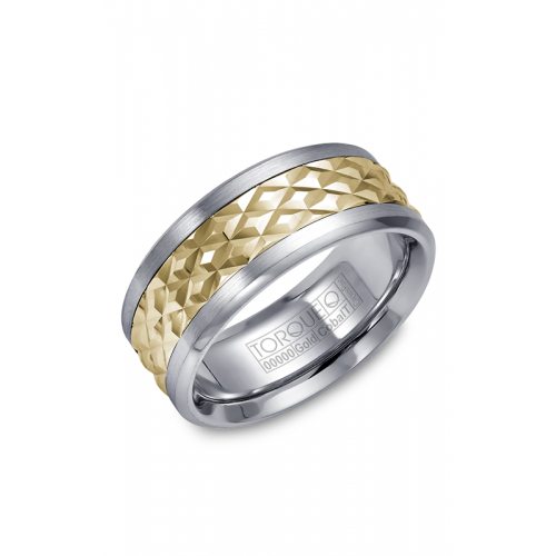 Torque Cobalt and Gold Wedding band CW017MY9 product image