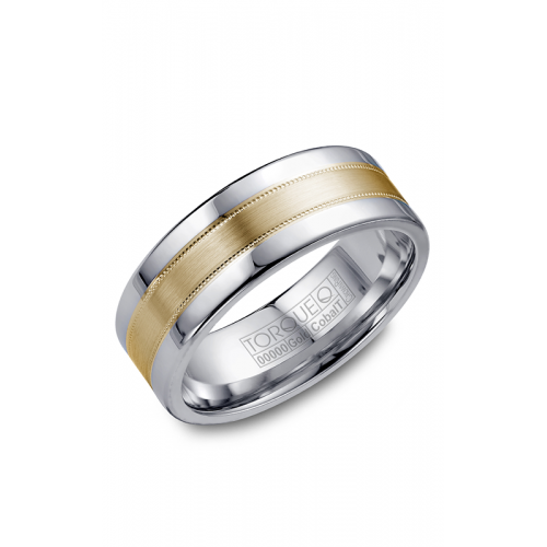 Torque Cobalt and Gold Wedding band CW021MY75 product image