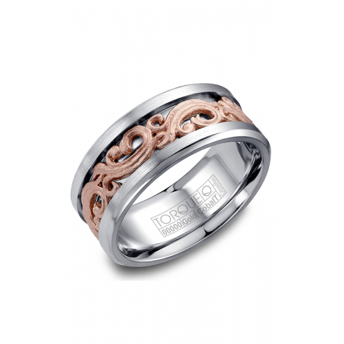 Torque Cobalt and Gold Wedding band CW081MR9 product image