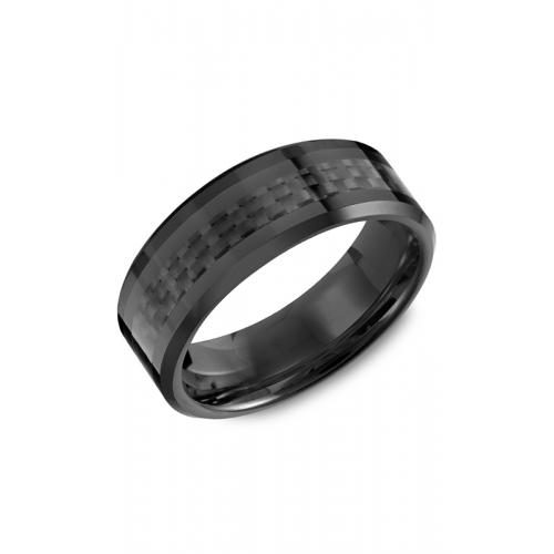Torque Black Ceramic Wedding band TU-0030 product image