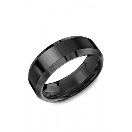 Torque Black Ceramic Wedding band TU-0037 product image
