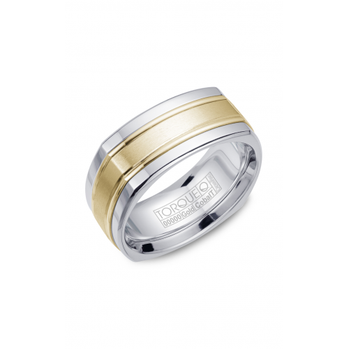 Torque Cobalt and Gold Wedding band CW057MY9 product image