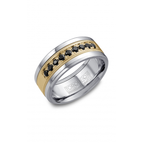 Torque Cobalt and Gold Wedding band CW076MY9 product image
