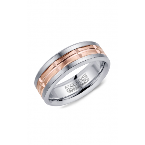 Torque Cobalt and Gold Wedding band CW100MR75 product image