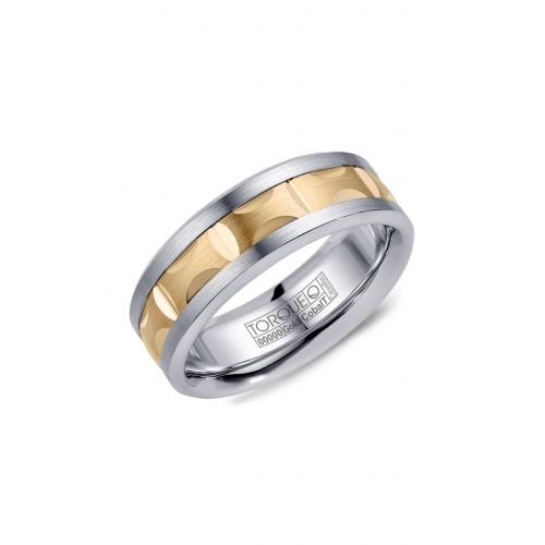 Torque Cobalt and Gold Wedding band CW101MY75 product image