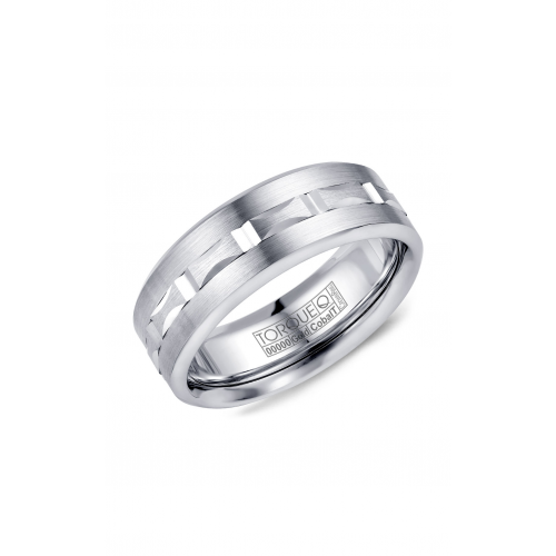 Torque Cobalt and Gold Wedding band CW104MW75 product image